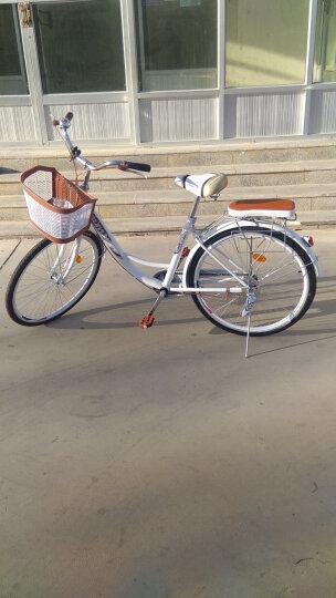 瑞韵 20英寸24英寸26英寸男女式学生款自行车休闲通勤淑女公主轻便复古单车 26英寸旗舰版-白色款 晒单图