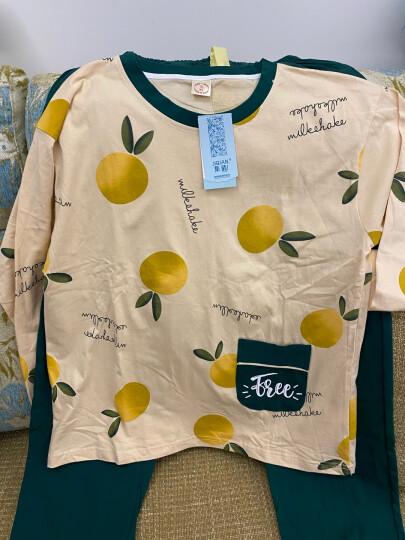 集倩(JIQIAN)睡衣女秋季长袖纯棉休闲韩版可爱减龄可外穿家居服套装 XJM2956 女XL(120-135斤) 晒单图