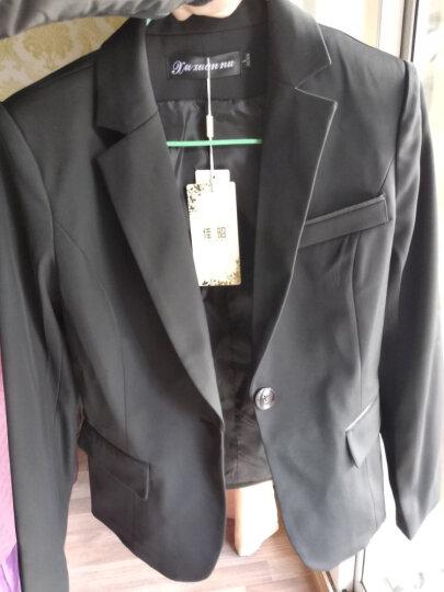 佳昭 小西装女职业装女装套装2020夏装长袖西服外套工作服女士工装正装OL面试套裤裙灰色长西装 长袖灰色外套+半裙 4XL 晒单图