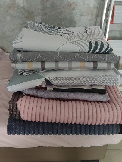 南极人四件套纯棉床上用品全棉床品套件1.8m床单被套四件套 【上新】方格风韵 晒单图