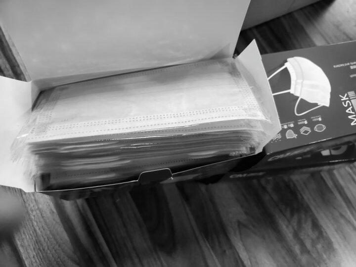 CM朝美 独立包装50只防唾液飞沫细菌秋冬季厚透气一次性男女pm2.5防雾霾防尘口罩粉尘花絮颗粒物 灰色活性炭4层 独立包装 50只装 晒单图