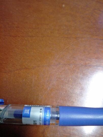 得力(deli)S01蓝色0.5mm按动中性笔水笔经典办公签字笔 子弹头12支/盒 晒单图