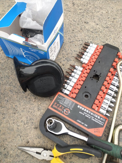 锐立普汽车喇叭鸣笛蜗牛喇叭12v通用型 CB125-高低音蜗牛喇叭(一对)12V 晒单图