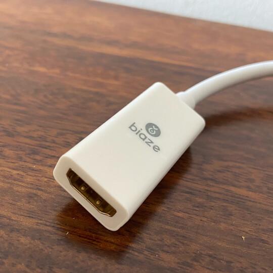 毕亚兹 Mini DP转HDMI/VGA转换器二合一4K高清 支持Surface苹果雷电电脑笔记本接投影仪显示器扩展坞 zh43铝 晒单图