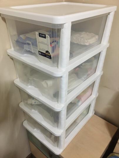 也雅Yeya透明塑料收纳柜抽屉式箱盒整理储物柜两层 晒单图