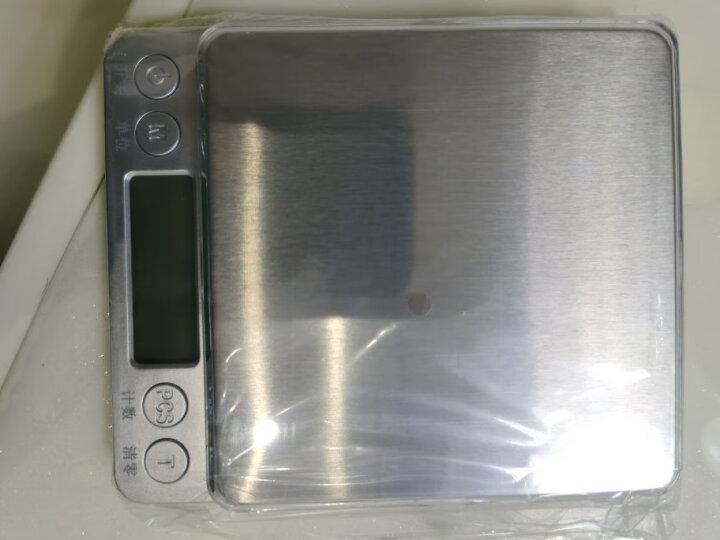 拜杰(Baijie)烘焙秤厨房秤电子秤精准家用迷你克秤食物称 3kg C305-3KG银色 晒单图