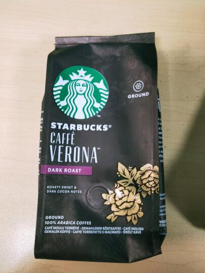 星巴克(Starbucks)美国进口咖啡豆 纯黑咖啡 可研磨咖啡 意式烘焙咖啡豆 250g 晒单图