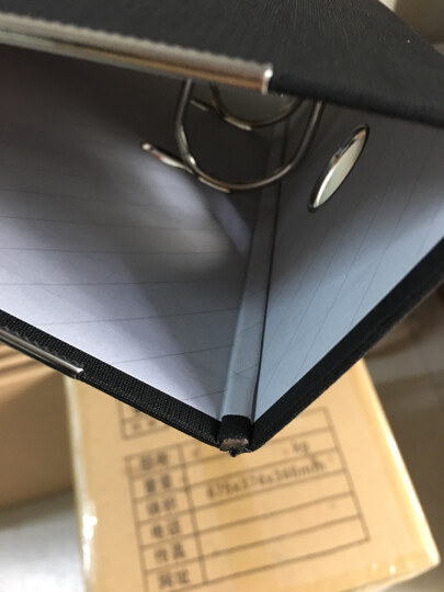 得力(deli) 5481 A4/3英寸PVC快劳夹 A4 黑色 单只装 晒单图