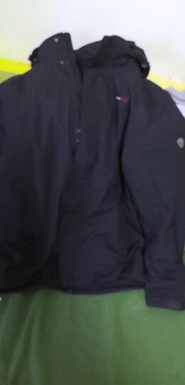 【经典款】诺诗兰男女三合一防水透湿冲锋衣 情侣户外防暴雨升级版保暖外套 男-雀灰色/纯黑色(19款) S 晒单图