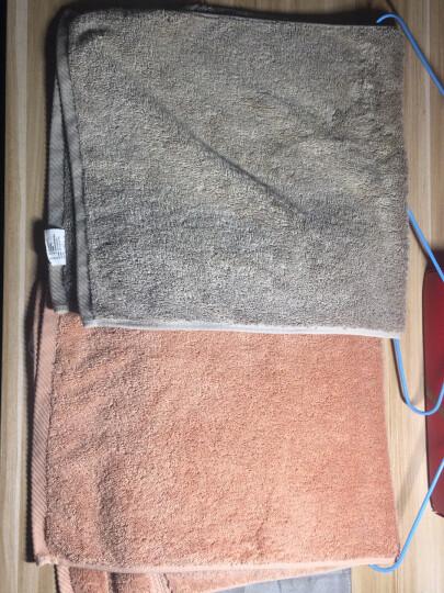 京造 埃及长绒棉毛巾 纯棉洗脸干发面巾 2条装(浅灰+棕茶) 晒单图