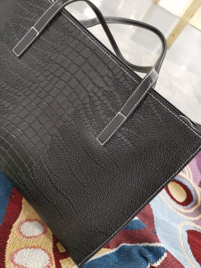 朱尔包包 女包欧美时尚鳄鱼纹女士单肩包休闲牛皮大容量托特包简约百搭斜挎大包包 Z-2109米白色 晒单图