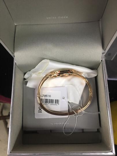 新款瑞士ck手表时尚女士女表女款手镯石英表全球联保 K6L2M616玫瑰金色M码 晒单图