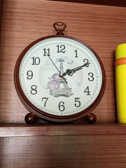 康巴丝(COMPAS) 挂钟古典欧式座钟表复古静音客厅装饰台钟创意卧室床头时钟石英钟 数字黑金2982 晒单图