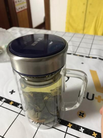 富光 双层隔热玻璃杯 茶隔款水杯带把 泡茶多用办公玻璃杯子 320ML+320ML(2只装) 晒单图