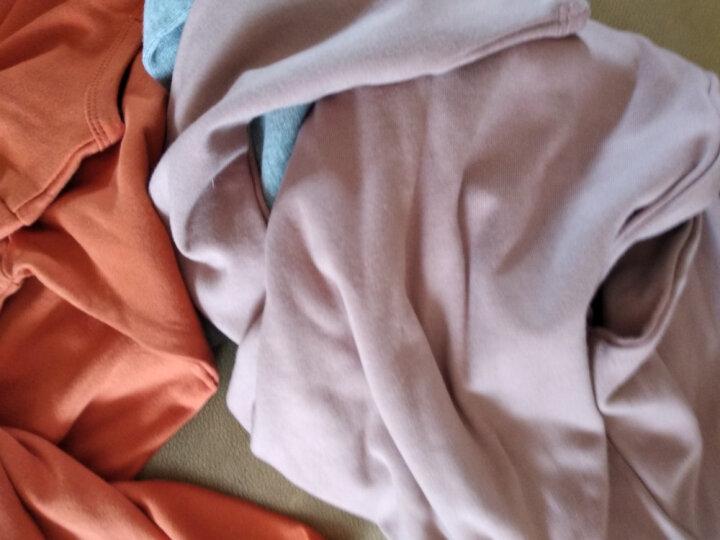 纯一良品童装男童长袖T恤儿童打底衫宝宝春秋装上衣中大童圆领体恤 桔色 130cm 晒单图