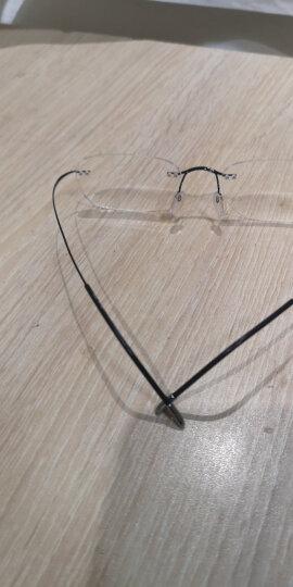 诗乐(Silhouette)SH7613/51-6074-5019 男女款黑色高科技钛无框光学近视眼镜架镜框 7613/51-6074-5019 晒单图