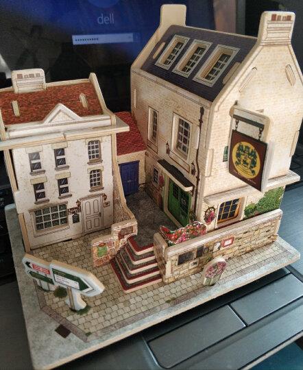 若态diy木质3d立体拼图世界风情小屋筑拼装模型儿童玩具中国茶楼小屋F131 新年礼物 晒单图