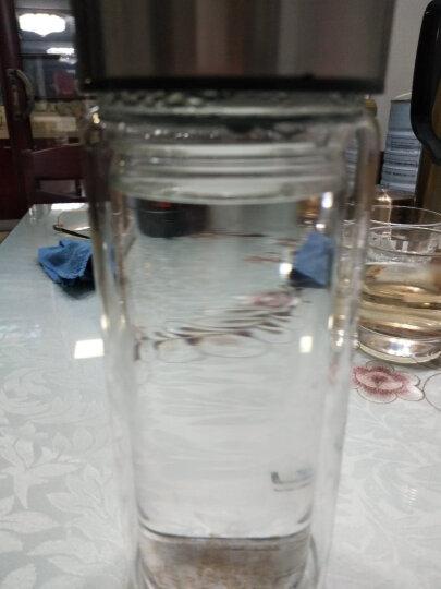 禾艾苏(heisou)双层玻璃杯喝水杯男女杯子玻璃水杯商务杯泡茶杯茶水分离杯便携水杯车载水杯随手杯 木纹色(350ml) 晒单图