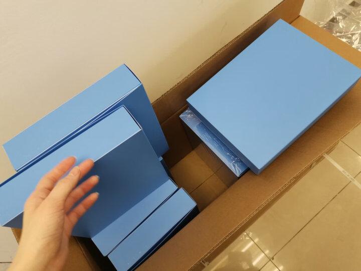 得力(deli)50mmA4塑料档案盒 资料文件收纳盒 财务凭证盒 财务用品 办公用品5623 晒单图