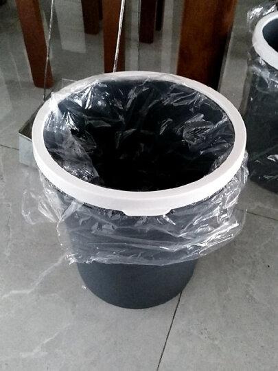 家杰优品 塑料垃圾桶 圆形纸篓 10L 中号 厨房客厅卫生间通用 压圈款 JJ-102 晒单图