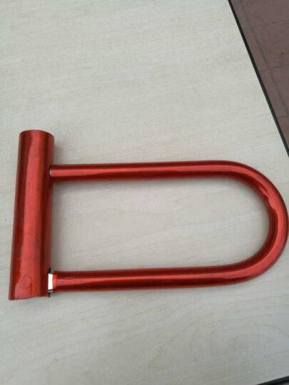 金点原子自行车锁防盗锁U型锁单车锁具山地车锁摩托车锁 颜色随机 1217-2 1217-2 晒单图