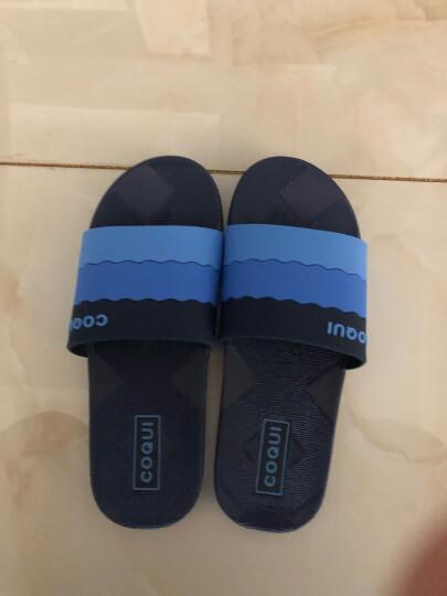 酷趣coqui 浴室拖鞋情侣拖鞋渐变色家居凉拖鞋深蓝色43码LJ85492 晒单图