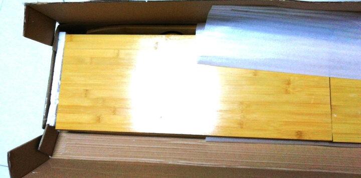 哈尔优 楠竹书架置物架组合学生书架简易桌上小书架现代实木储物柜书柜 80长五层简易书架 晒单图