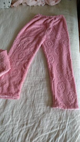 諾盾睡衣女冬季珊瑚绒加厚保暖女士长袖翻领开衫法兰绒家居服可外出套装 8807粉 L码156-165cm 100-120斤 晒单图