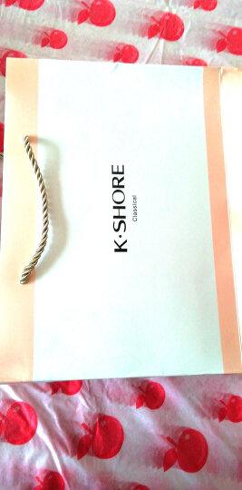 金号毛巾家纺 纯棉加厚彩条面巾 混色毛巾礼盒装 2条 蓝/桔 72*36cm 119g/条 含手提袋 晒单图