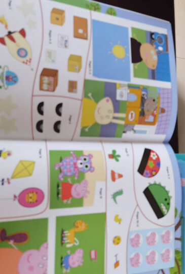 小猪佩奇趣味贴纸游戏书(第1辑 套装8册)(动手动脑益智游戏书,轻松提高专注力) 晒单图