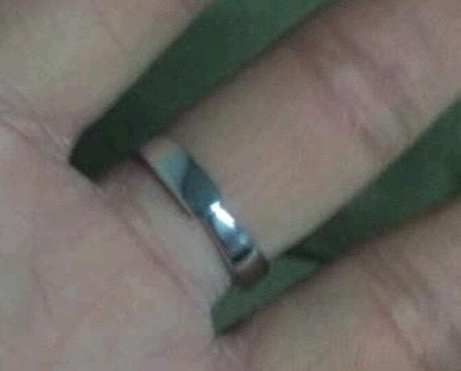 曼蒂娅 925银情侣戒指一对银学生刻字情侣对戒男士女士一对开口光圈戒指送女友礼物 光圈对戒 免费刻字(商家配送) 晒单图