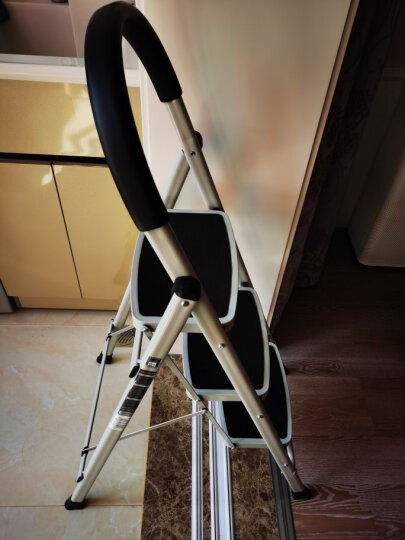奥鹏 梯子家用折叠加厚钢管两步梯 AP-1262 晒单图