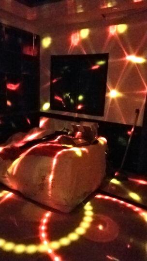 够能耐舞台灯光LED声控彩灯9色水晶魔球七彩旋转灯家用KTV激光灯包房酒吧灯光声控感应灯 (无音箱蓝牙)声控+自走 晒单图