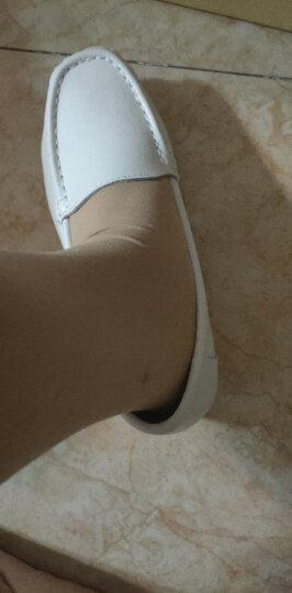 圣诗丹特护士鞋软底女单鞋夏季气垫真皮松糕鞋中跟检验室白色简约工作鞋 4747 休闲 37 晒单图