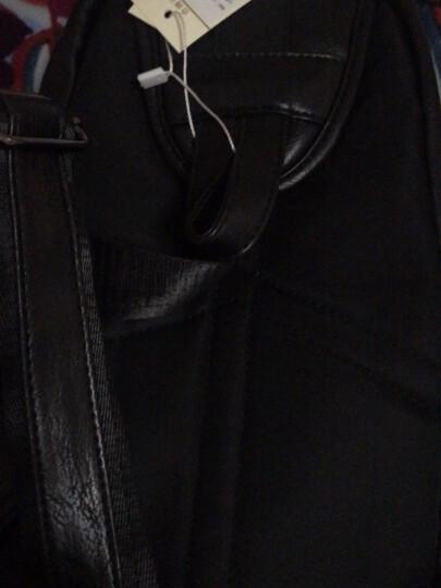 斯维森之星胸包男潮休闲单肩包男包韩版时尚潮流9.7英寸ipad斜挎包男士小腰包 2021#黑色+【钱包】 晒单图