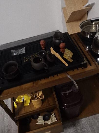 祥业 茶具套装功夫茶具紫砂汝窑柴烧整套实木茶盘茶海茶壶家用办公四合一电热磁炉 24马上有钱茶盘+柴烧侧把茶具+电器 39件 晒单图