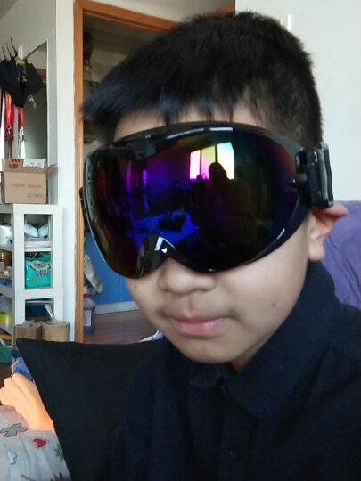 VOLOCOVER 艾仑凯沃专业滑雪眼镜 双层镜片防雾防紫外线男女防护目镜大球面可卡近视眼镜滑雪镜 黑色框蓝彩片 晒单图