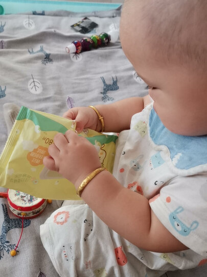 全棉时代 湿巾婴儿手口专用纯棉湿纸巾 宝宝新生儿纯水湿巾小包 25片*4包*1提 晒单图