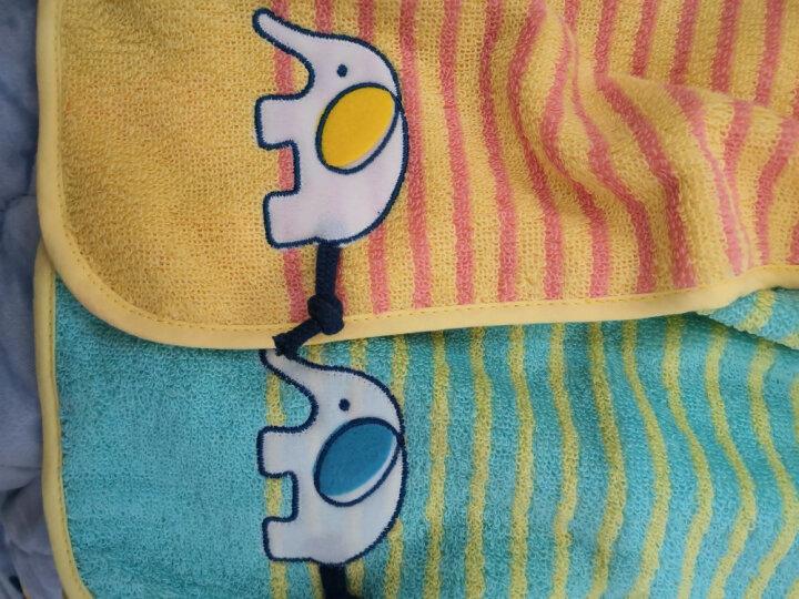 金号 毛巾家纺 A类纯棉洗脸小毛巾卡通毛巾 小象贴布绣布艺包边 两条装 黄/绿 65*30cm 晒单图