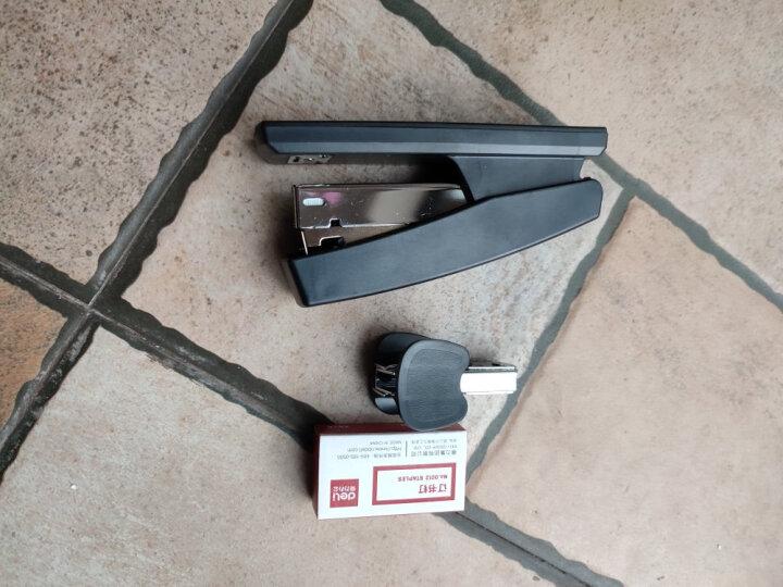 得力(deli)12#办公订书机3件套(订书器+订书钉+起钉器) 办公用品 黑色0354 晒单图