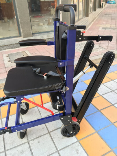 欣奎康 电动爬楼轮椅车便携履带式爬楼车老年人上下楼梯折叠轻便爬楼机手动 旗舰调速款-红色大轮-前6寸后8寸 晒单图