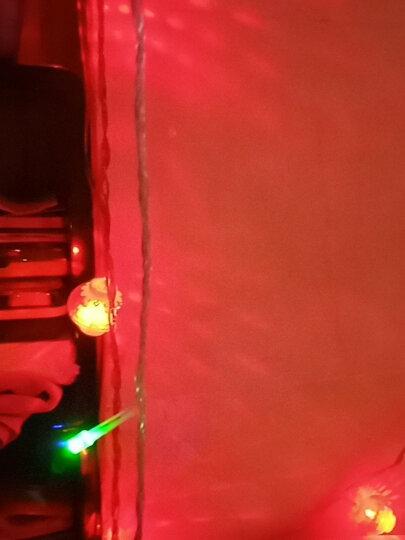 京惠思创 JH0415 劳动节儿童节元旦 LED窗帘蝴蝶彩灯生日装饰 灯串闪灯彩色3.6米38灯 晒单图
