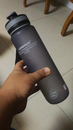 UZSPACE 优之水杯  大容量 情侣 学生 男女户外运动水壶 进口材料 安全环保 杯子 3032按盖灰色1L 晒单图