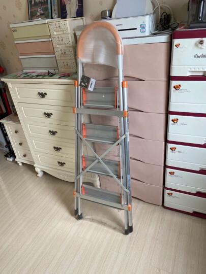 奥鹏 家用梯子铝合金人字梯五步加厚折叠梯装修工程梯AP2415G 晒单图