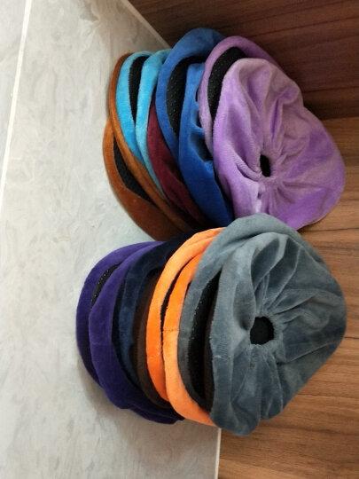 利雨 绒布鞋套家用布 防滑底加厚耐磨可反复清洗10双装 成人款/天蓝色-10双装 均码/适合35-44码 晒单图