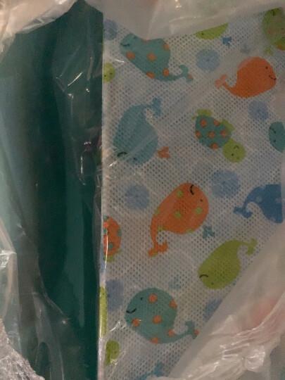 gb好孩子婴儿浴盆宝宝洗澡盆坐卧两用大号浴盆 蓝色浴盆+浴架+十字浴网+洗浴大礼包 晒单图