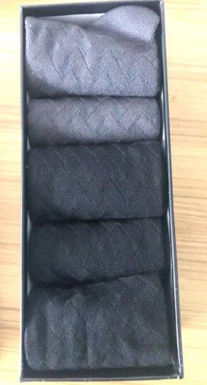 宜帛棉品 袜子男士竹纤维袜子中筒男袜吸汗秋冬季款商务不臭脚男袜礼盒装5双 三黑色两灰色 晒单图