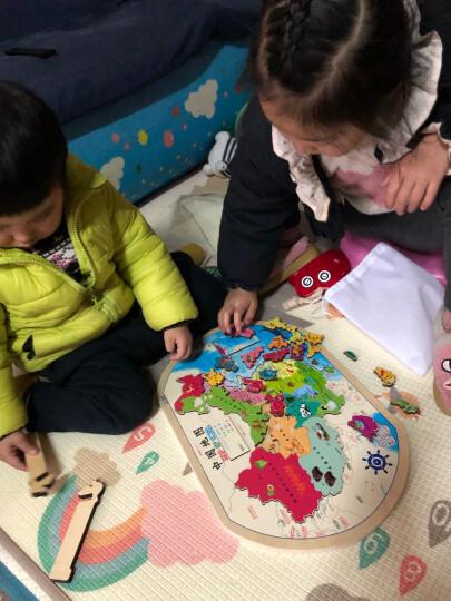 凹凸立体地图:中国地图+世界地图(书包便携版 套装2册) 晒单图