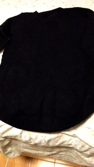 贝蕾曼 2018秋冬新款毛衣针织衫女套头加厚韩版中长款修身打底长袖A5809 灰色 L(建议125-155斤) 晒单图
