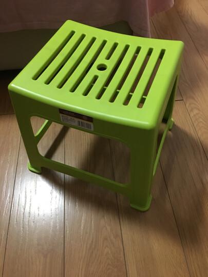唐宗 塑料凳子加厚型简约浴室防滑凳家用椅子小凳子茶几换鞋凳茶几小板凳 绿色 晒单图